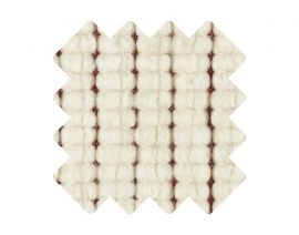 Muster zu Teppich «Doppia Rosso»