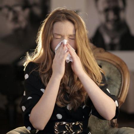 Reaktion auf Hausstaub-Allergie